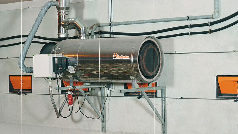 Instalasi kandang untuk penggunaan energi rendah: RGA100-alat pemanas