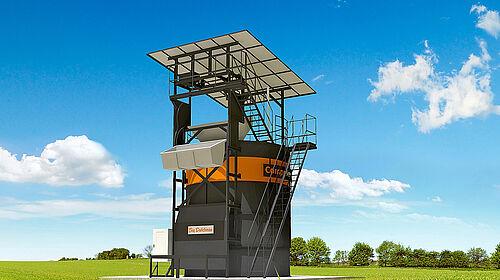 Menara pengolahan kotoran unggas menjadi pupuk organik